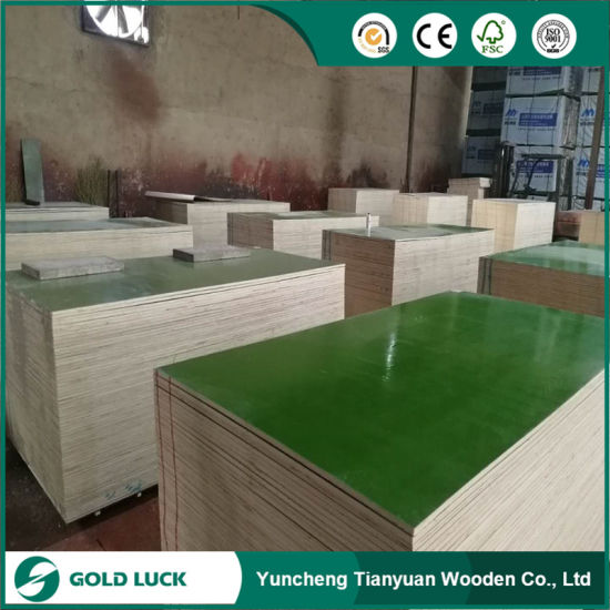 Green/Blue/Customized Color Reused PVC Plastic Coated /PP Plywood pictures & photos