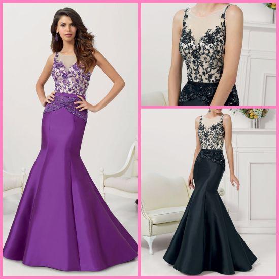 2b9d7d5b0965 Purple Black Bridesmaid Dresses Mermaid Bridal Formal Prom Evening Dress  Z1048 pictures & photos