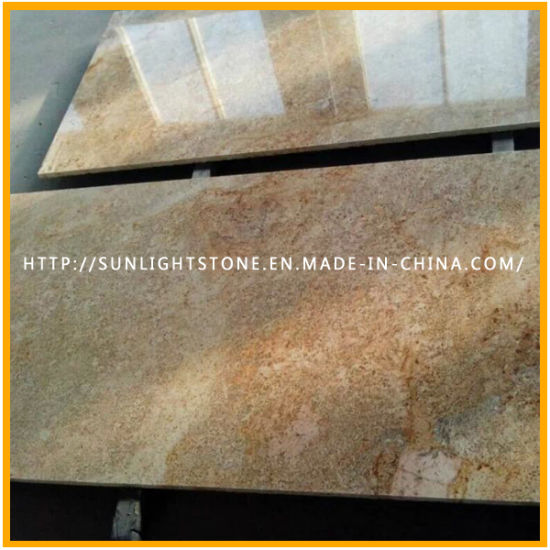Polished Imperial Gold/Golden Yellow Granite Tiles for Floor, Wall pictures & photos