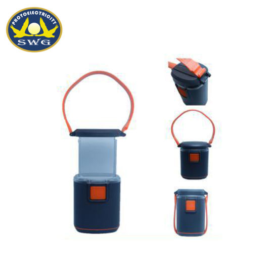 LED Lamp Portable Lantern Dry Battery ABS Material Outdoor Camping Flashlight