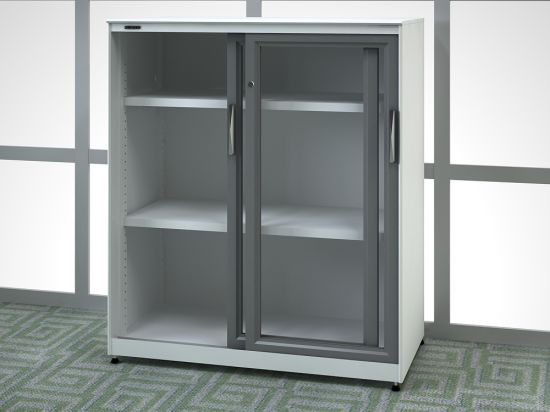Sliding Door Cabinet with Glass Door (SV-SLG1357) pictures & photos