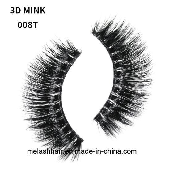 6d823196821 Me&Lash False Eyelashes 008t 3D 100% Mink Fur Lash Strips Wholesale Price  Transparent Terrier Custom Packaging OEM Private Label