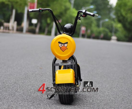 2017 New Big Wheel 500W Junior Citycoco Harley Electric Scooter pictures & photos