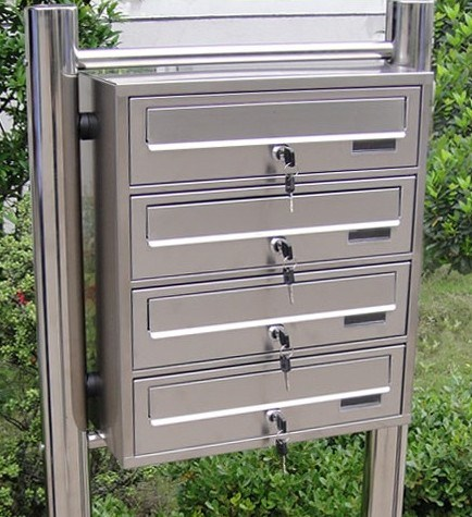 China Stainless Steel Modern Design Apartment Mailbox