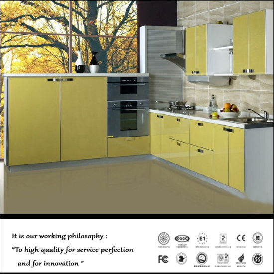 Blue Colour Laquer Faced Kitchen Cabinet Fy5632