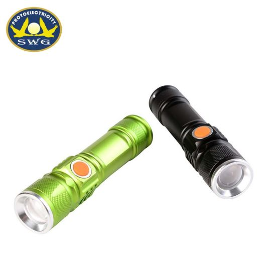 USB Charging Rechargeble Compact Pocket Mini Flashlight pictures & photos