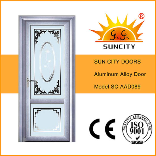 Cheapest Aluminum Alloy Door with Glass (SC-AAD089)