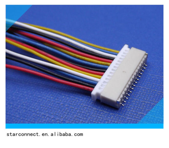 customized electrical wire harness with white jst connector suit for all  electrical equipments pictures & photos
