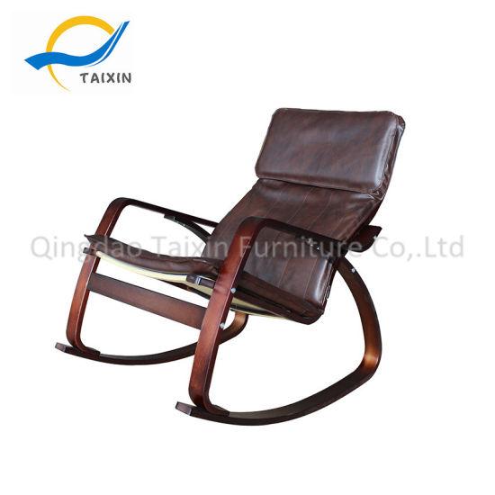 Magnificent China Modern Simple Style Pu Fabric Wooden Rocking Chair Customarchery Wood Chair Design Ideas Customarcherynet