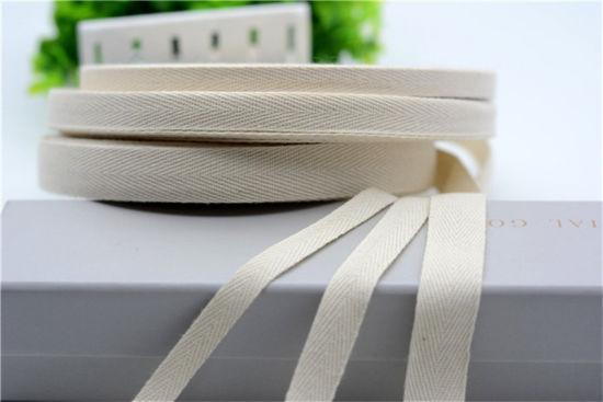 China Ribbon Yarn Twist and 100% Cotton Material Ribbon