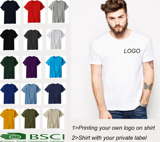 8cc8dca7 Custom High Quality 100% Cotton Round Neck Printing Blank T-Shirt Men