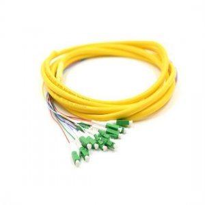 12 Fibers LC/APC 9/125 Single Mode Bunch Fiber Optic Pigtail - 0.9mm PVC Jacket
