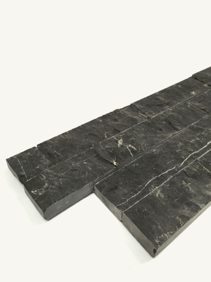 Black Marble Slate Culture Stacked Stone Textures Ledge Stone for Walls pictures & photos