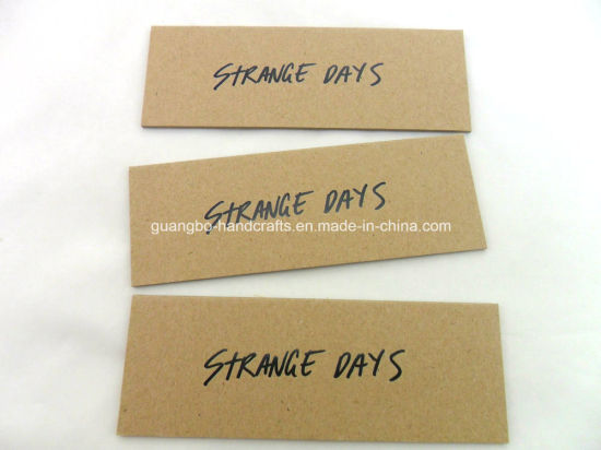 Brown Kraft Paper Hang Tags for Jeans Clothing pictures & photos