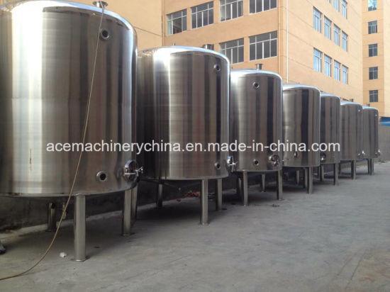 Sanitary Stainless Steel Beverage Tank Liquid Vertical Storage Tank (ACE-CG-6K)