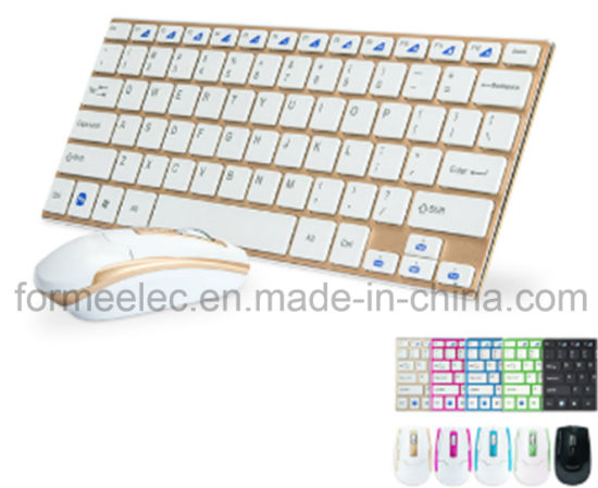 Wireless Keyboard Mouse Computer Laptop Keyboard with Aluminum Alloy