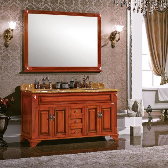 China Classic Style Bathroom Cabinet Made Of Solid Wood China Bath