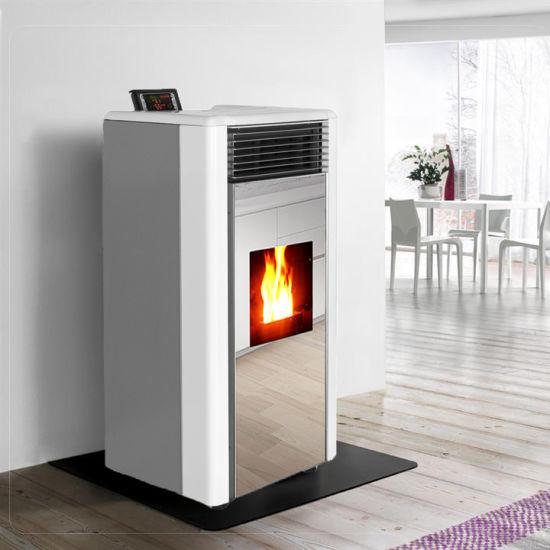 Two Door Design Biomass Stove Wood Pellet Fireplace