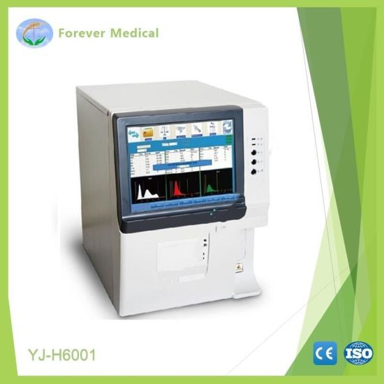 Hospital Equipment Full Auto 3 Part Diff Hematology Analyzer for Lab