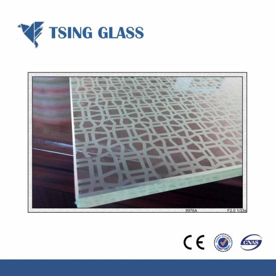 3-12mm Tempered Silk-Screen Printing Glass with Logo Desings pictures & photos