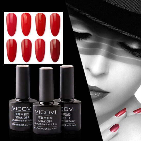 Hot Selling Ktg Vicovi Beautiful Colors Soak Off Waterproof Non Toxic UV Gels Nail Polish Pictures