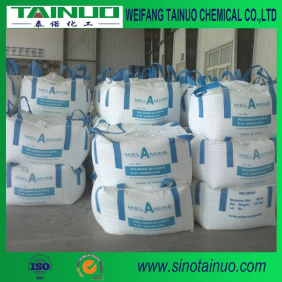 Industrial Use White Crystalline Powder Melamine with Purity 99.8%