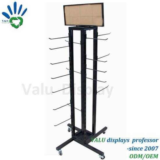 China Metal Hooks Display Stand MultHooks Display Rack Metal Fascinating Spinner Display Stands