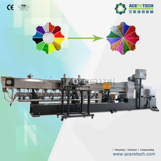 Twin Screw Color Masterbatch Compounding Extruding Machine pictures & photos