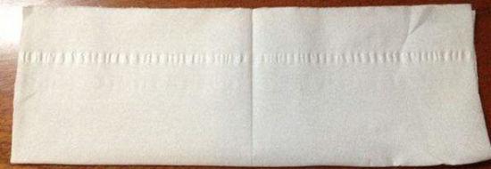 Foding towel for a facial