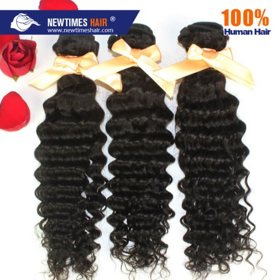 Stock Immediate Shipment Deep Curly Brazilian Remy Human Hair Weave pictures & photos