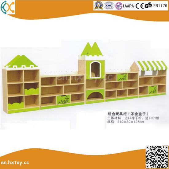 High Quality Kindergarten Wooden Toy Shelf for Kids