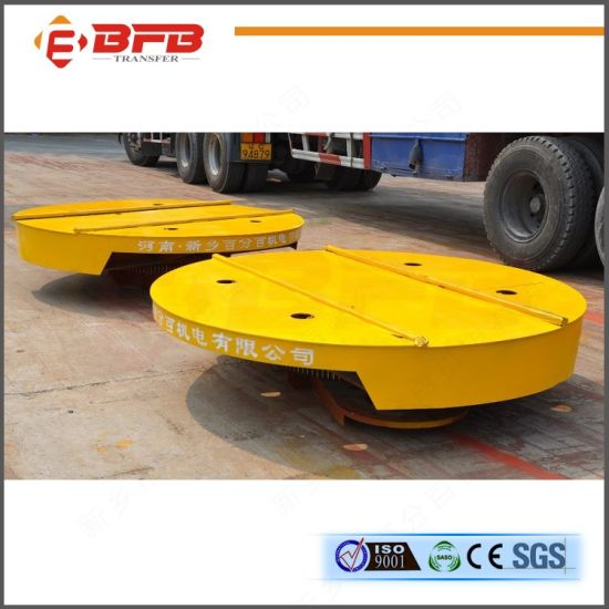 High Efficiency Motorized Electric Transfer Cart Mounted on Turntable pictures & photos