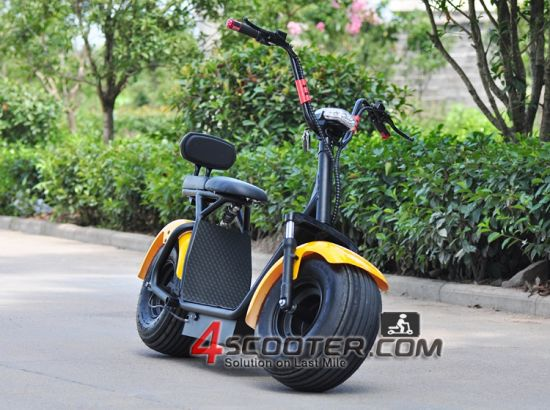18*9.5 Car Tyre Citycoco Harley Style Electric Scrooser 800W Brushless Motorcycle pictures & photos
