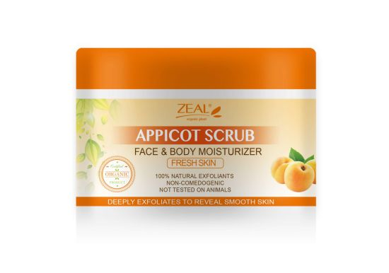 Zeal Skin Care Apricot Fresh Skin Face Body Exfoliating Scrub