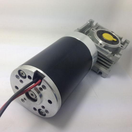 Size 80mm Electric DC Worm Gear Motor, 12V 24V 36V 48V, High Torque Big Power