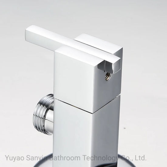 Sanitary Ware Square Bathroom Diverter Zinc Angle Valve