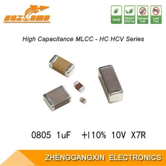 China 0805 1uf 10 10v X7r Smd Multilayer Chip Ceramic Capacitor Mlcc China Capacitor Ceramic Capacitor