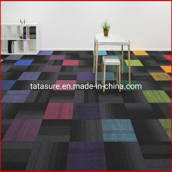 PP Carpet Tiles/Nylon Carpet Tiles/ Bitument and PVC Backing/Environmental PU Backing Antifouling Carpet Tiles/Office Carpet