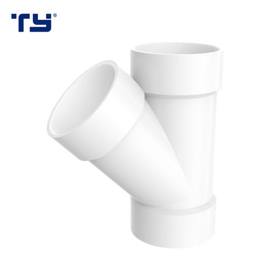 PVC Dwv Fittings Plastic Skew Tee Ty (ASTM D2665)
