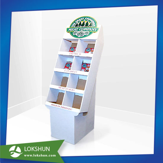 4 Tiers Cardboard Beverage Display Stand, Coconut Juice Floor Display pictures & photos