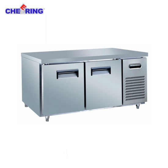 China Glass Door Stainless Steel Commercial Kitchen Worktable ...