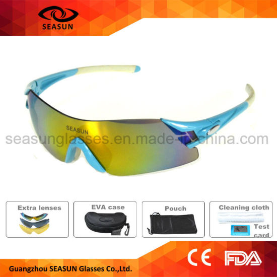 c4b7d152c086 Aviator Polarized Available Windproof Bike Riding Cycling Sunglasses with 5 Lens  for Men
