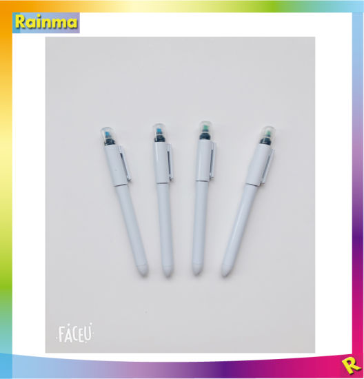 Plastic Ballpoint Pen with Highlighter for Promotional Gift