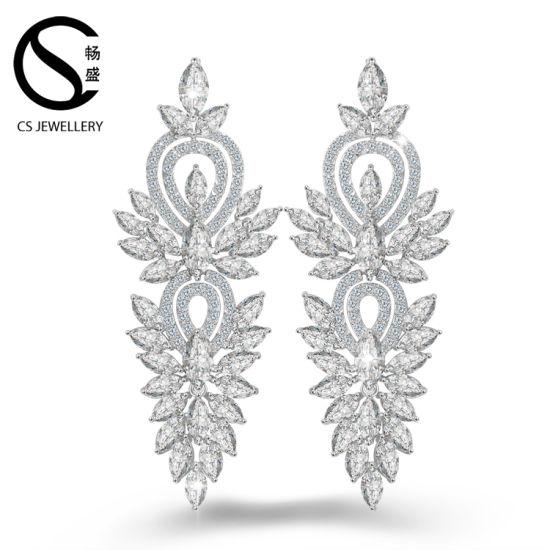 In Stock White Gold Aaa Cz Earring Beautiful Designs