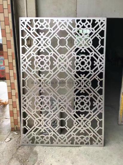 Villa Garden Decoration Powder Coated Laser Cut Metal Aluminum Garden Fence  Panel