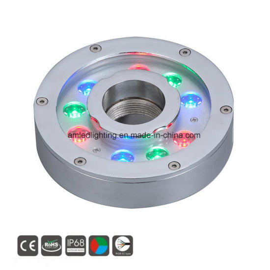 IP68 24V RGB Stainless Steel LED Underwater Light for Fountain pictures & photos