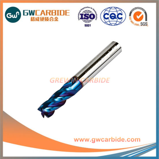 8*60HRC60 Tialn Coating Carbide 4flute Flat End Mills pictures & photos