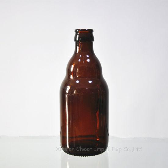 330ml Personal Bottle Amber Color Glass Beer Bottle