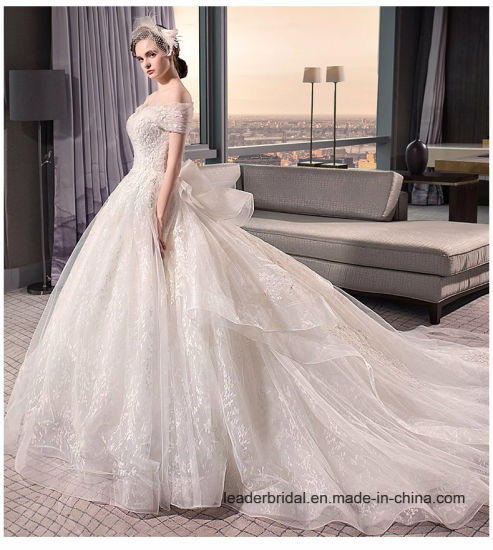 China Retro Lace Bridal Gowns Strapless Puffy Ball Gowns Wedding ...