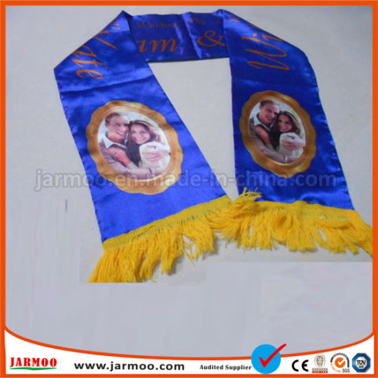 Cheap Custom Jacquard Acrylic Fans Scarf pictures & photos
